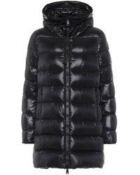 Moncler Moka Lacquer Long Puffer Coat - Black