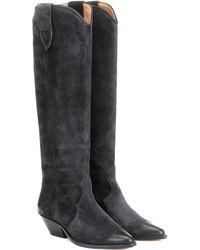 Isabel Marant Denvee Suede Boots - Black