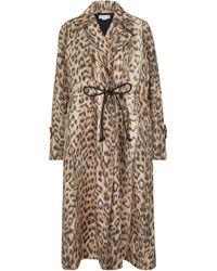 Victoria Beckham Trench-coat à motif léopard - Neutre