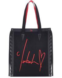 Christian Louboutin Shopper Cabalace Small con pelle - Nero