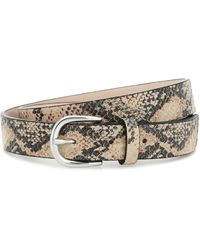 Isabel Marant Zap Snake-effect Leather Belt - Multicolour