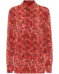Altuzarra Chika Printed Silk Top - Red