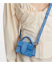 Jacquemus Le Petit Bambino Suede Shoulder Bag - Blue