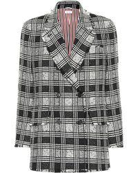 Thom Browne - Checked Tweed Blazer - Lyst
