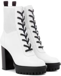 Gianvito Rossi - 90 Lace-up Leather Ankle Boots - Lyst