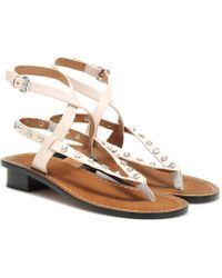 Isabel Marant Exclusive To Mytheresa – Jings Embellished Leather Sandals - White