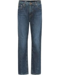 AG Jeans The Phoebe High-rise Straight Jeans - Blue
