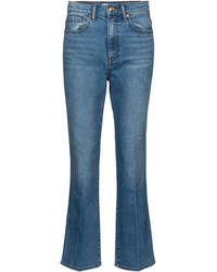 Tory Burch Mid-rise Cropped Jeans - Blue
