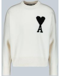 AMI Ami De Coeur Oversized Sweater - White