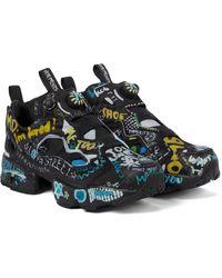 Vetements X Reebok Logo Instapump Fury Sneakers - Black