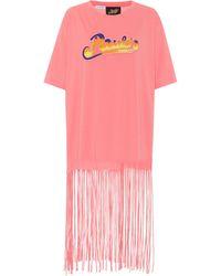 Loewe Paula's Ibiza Fringed Cotton T-shirt - Pink
