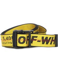 Off-White c/o Virgil Abloh - Classic Industrial Belt In Yellow And Black Synthetic Fabric - Lyst