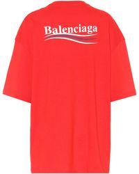 Balenciaga - Bedrucktes T-Shirt aus Baumwolle - Lyst