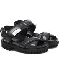 Ganni Sandalen aus Leder - Schwarz