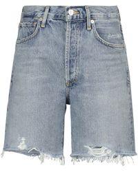 Citizens of Humanity Camilla High-rise Denim Shorts - Blue
