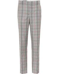 CALVIN KLEIN 205W39NYC Plaid Wool Trousers - Gray