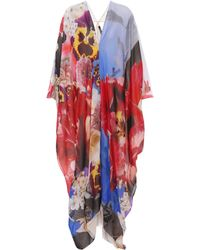 Roberto Cavalli - Floral-printed Silk Dress - Lyst