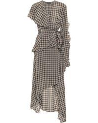 ROKH Houndstooth Silk Dress - Multicolour
