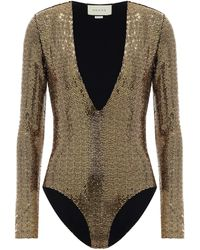 Gucci Sequined Bodysuit - Metallic
