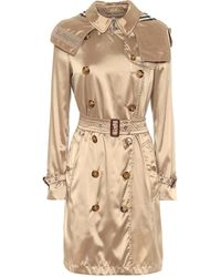 Burberry Trench-coat Kensington en satin - Neutre