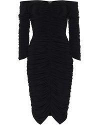 Norma Kamali Off-Shoulder-Kleid Slinky aus Jersey - Schwarz