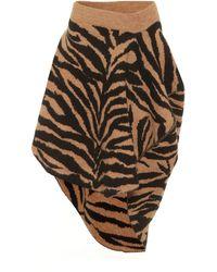 MM6 by Maison Martin Margiela - Zebra-jacquard Miniskirt - Lyst