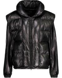 Isabel Marant Malory Padded Leather Jacket - Black