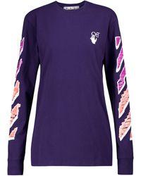 Off-White c/o Virgil Abloh Camiseta Marker Arrows - Morado