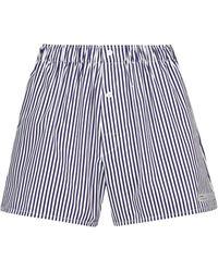 Coperni Shorts de algodón de rayas - Blanco