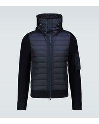 Moncler Wool Blend Tricot Down Jacket - Blue