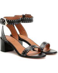 Givenchy Elegant Studded Leather Sandal - Black