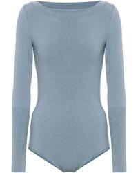 Alaïa Body en laine mélangée - Bleu