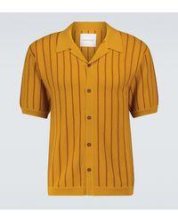 King & Tuckfield Short-sleeved Merino Wool Cardigan - Brown