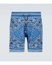 Amiri Pantalones cortos Bandana B-Ball - Azul