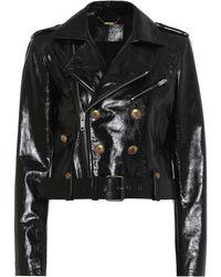 Givenchy Patent Leather Jacket - Black