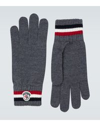 Moncler Wool Ribbed Gloves - Gray