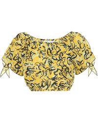 Diane von Furstenberg X Onia crop top Colette de algodón - Amarillo