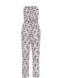 Étoile Isabel Marant Timea Floral Cotton Jumpsuit - Multicolour