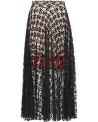 Christopher Kane Lace Midi Skirt - Black