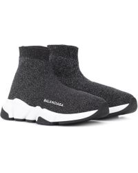 Balenciaga Speed Knitted Trainers - Black