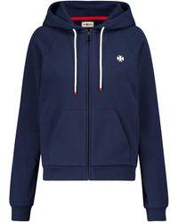 Tory Sport Zip-through Cotton Hoodie - Blue