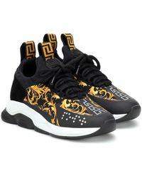 Versace Cross Chainer Printed Trainers - Black