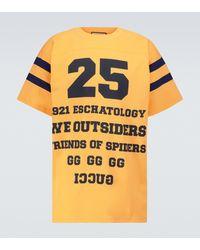 Gucci Bedrucktes T-Shirt 25 aus Baumwolle - Gelb