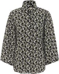 Marni Bedruckte Bluse aus Baumwolle - Grün