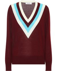 b1802fd5ba7 Valentino Wool And Alpaca-Blend Embroidered Sweater in Natural - Lyst