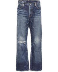 Visvim Jeans a vita alta distressed - Blu