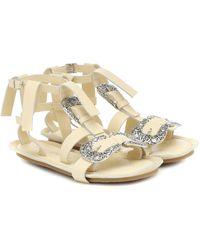Acne Studios Leather Sandals - White