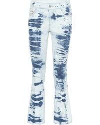 Stella McCartney Jeans cropped de algodón - Azul