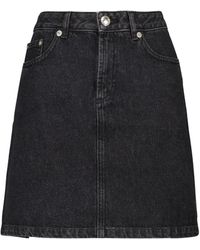 A.P.C. Jupe Standard Denim Miniskirt - Black