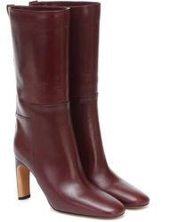 Jil Sander Leather Mid-length Boots - Red